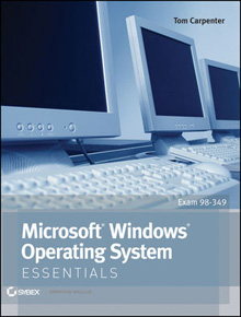 Image of the book Microsoft Windows Operating System Essentials, this is included with the training course at Logitrain