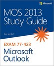 Image of the book Exam 77-423 Microsoft Outlook, this is included with the training course at Logitrain