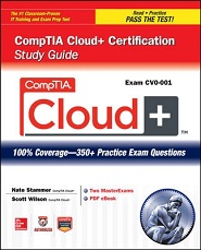Image of the book CompTIA Cloud+, this is included with the training course at Logitrain