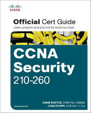 Image of the book CCNA Security 210-260, this is included with the training course at Logitrain