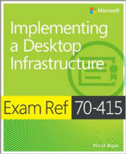Image of the book Implementing a Desktop Infrastructure, this is included with the training course at Logitrain