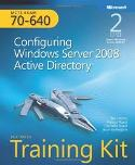 Image of the book Configuring Windows Server 2008 Active Directory, this is included with the training course at Logitrain