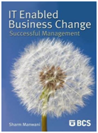 Image of the book IT Enabled Business Change, this is included with the training course at Logitrain