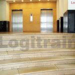 Image of a building lobby where Logitrain is located
