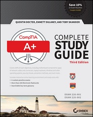 Image of the book CompTIA A+ Complete Study Guide, this is included with the training course at Logitrain