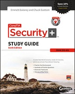 Image of the book CompTIA Security+ Study Guide, this is included with the training course at Logitrain