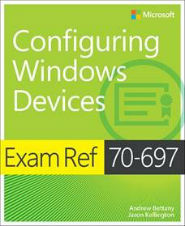 Image of the book Configuring Windows Devices, this is included with the training course at Logitrain