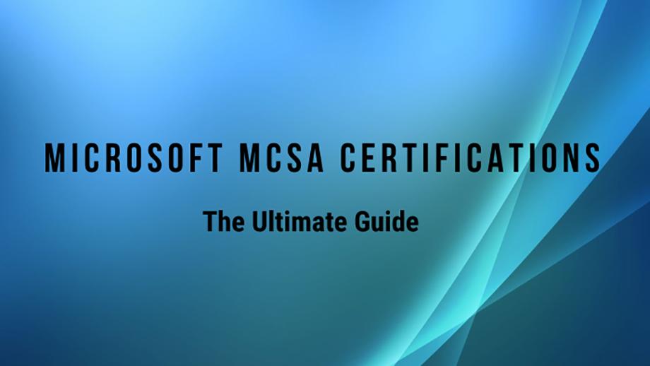 MCSA Certification