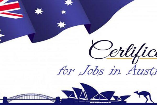 certification for jobs in Australia